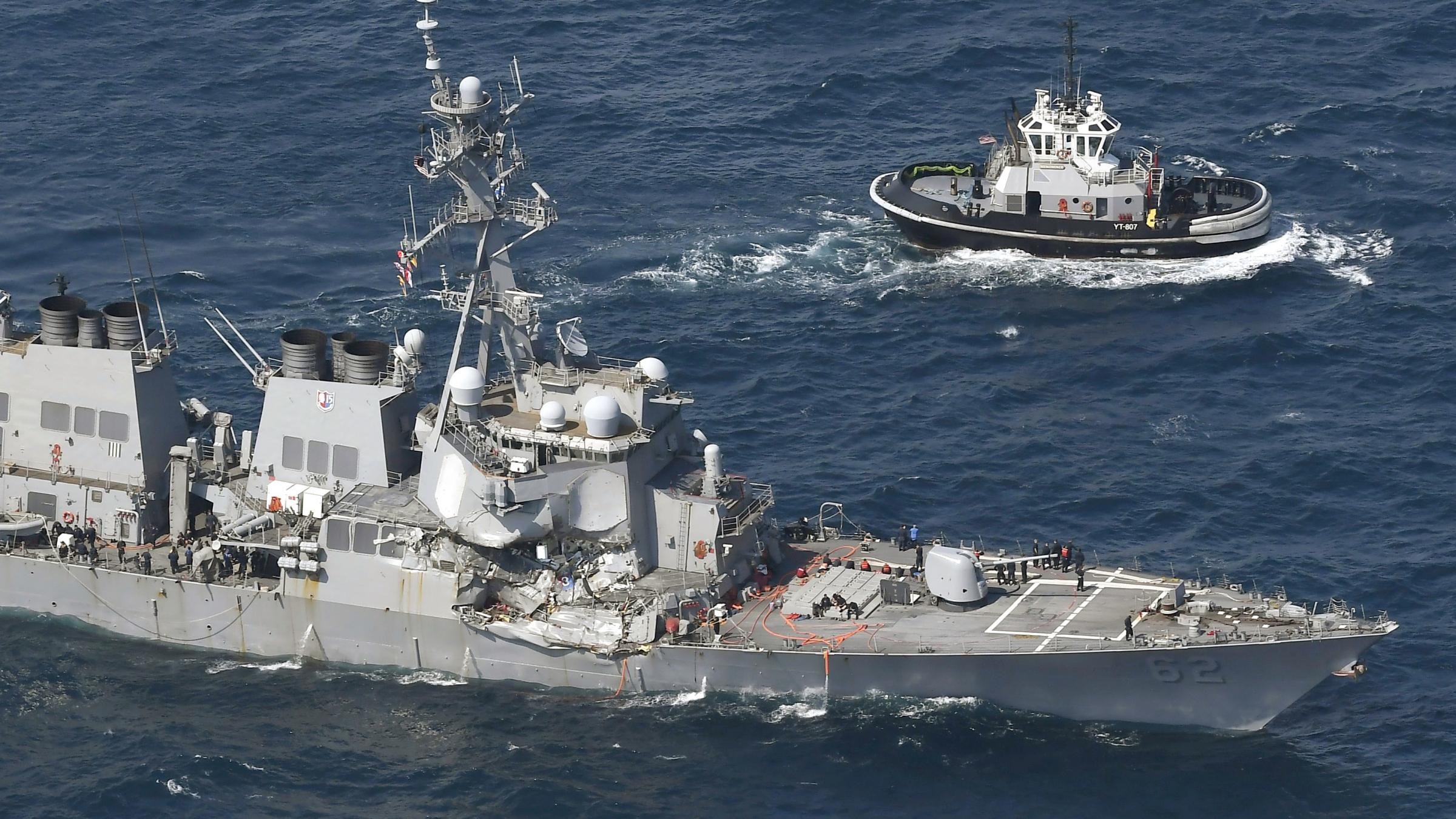 Seven US navy crew missing after collision
