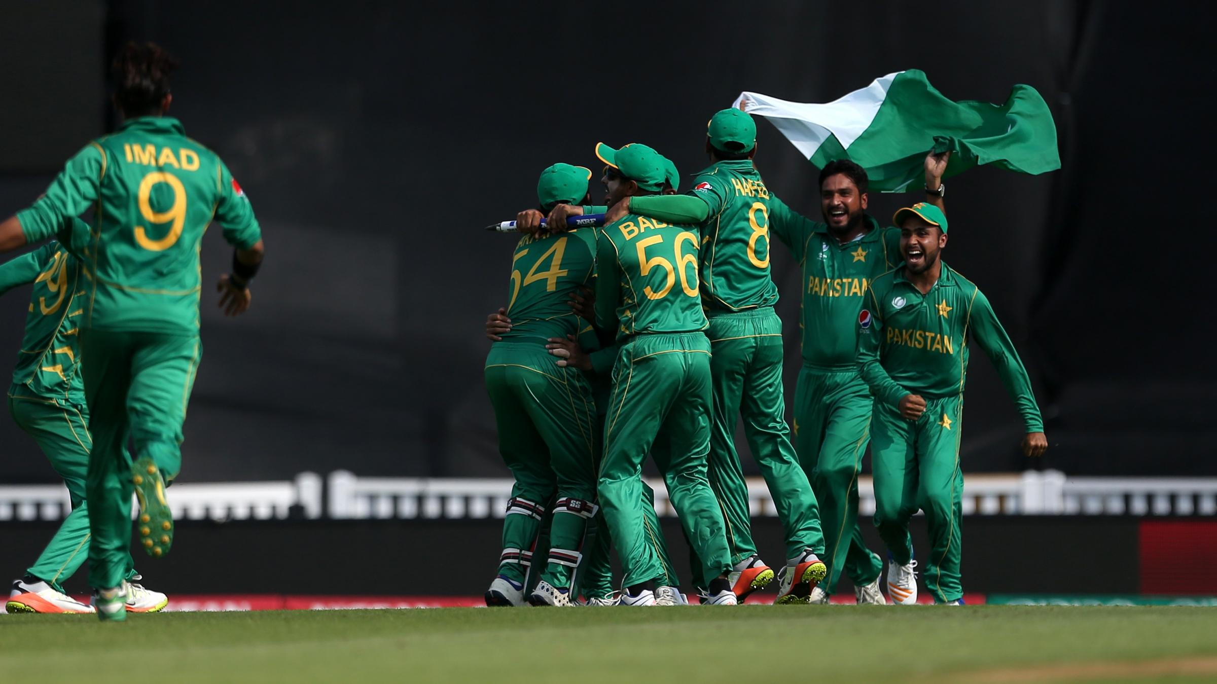 India all out, Pakistan win by 180